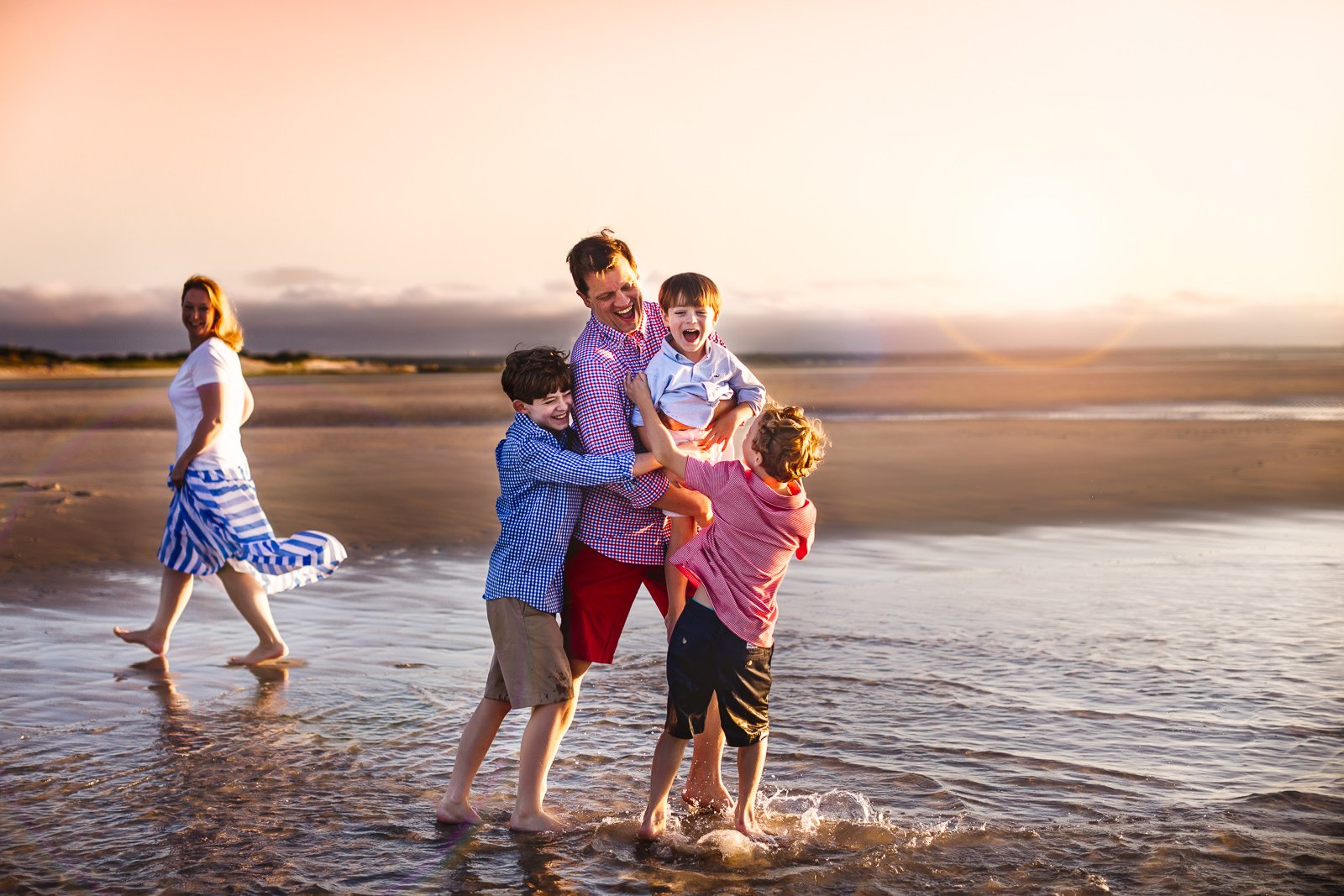 Summer Beach Family Session Cape Cod-5